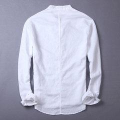 Summer Spring Casual Linen Camisa Loose Button Down Camisa para Hombre