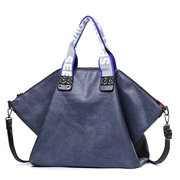 Women Soft PU Leather Large Capacity Handbag Solid Crossbody Bag