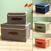 Algodão Linho Livros Sundries Espessamento Storage Box Collectorible Clothing Organizer
