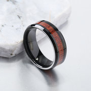 8mm Classic Mens Wood Tungsten Rings Tungsten Carbide Colorfast Anallergic Engagement Rings for Men
