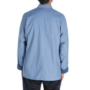 Mens Chinese Style Solid Color Stand Collar Long Sleeve Cotton Linen Vintage Loose Jacket