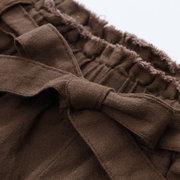 Pantalon large pour filles à nœud papillon élégant pour les années 6-15