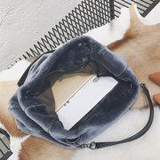 Große Kapazität Plüsch Tote Handtasche Schultertasche für Damen