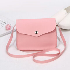 Women Solid Leisure Phone Bags Faux Leather Casual Crossbody Bags