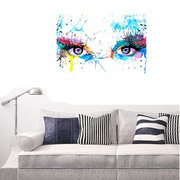 Framless DIY Paint by Number Kit Colorful Eyes Painting Wall Living Room Home Decor
