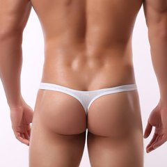 Sexy Water Pattern Crotchless Bikini Underwear Thong With Pouch For Men