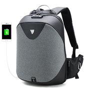 Мужчины противоугонные Рюкзак 5in Ноутбук Бизнес Рюкзак с USB-портом для зарядки