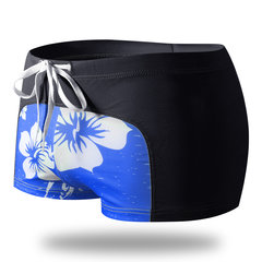 Hot Spring Pritning Patchwork Boxershorts mit niedriger Taille für Herren
