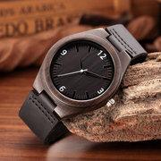 Couro de luxo relógios de couro genuíno relógios de pulso de quartzo de sândalo do punk crânio relógio ocasional para homens