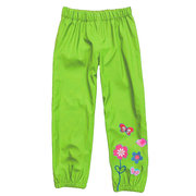 Kids Rain Pants Waterproof Windproof Boys Girls Flower Pants For 2-9 Years