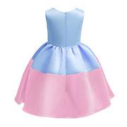 Patchwork de fleurs filles enfants robe de princesse sans manches pour 3Y-13Y