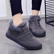 M.GENERAL Lace Up Sneakers Casual Suede Boots For Women