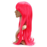 70cm Womens Long Cosplay Perücken Party Curly Wavy Anime Hair