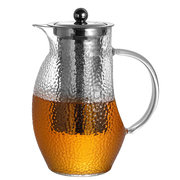 1.3L Elegant Glass Tea Pot Microwave and Stovetop Teapot With Stainless Steel Tea Strainer Infuser