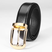 Men's High-grade Leather Belt Top Layer Leather Belt Male Pin Buckle Leather Belt