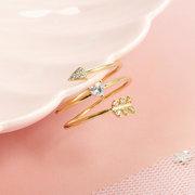 Elegantes anillos de dedo ajustable cobre plateado oro 18K anillos geométricos irregulares joyería para mujeres
