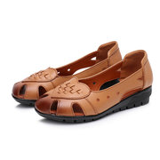 Soft Hollow Cow Leather Flats