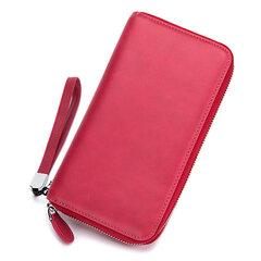 Genuine Leather Multi-functional Multi-slots 6 Inch Phone Bag Clutch Bag Long Wallet For Women Men