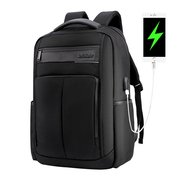 USB Charging Nylon Waterproof 18 Inch Laptop Bag Backpack For Men