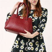 5 PCS Women PU Leather Handbag Retro Multi-function Solid Crossbody Bag