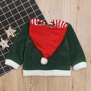 عيد الميلاد سانتا كلوز بنات بنين معطف الشتاء كم طويل ل 3 Y-11Y