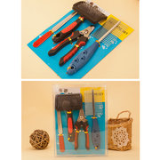 Four-piece Pet Cleaning  Kit Combing Nail Knife Milling Machine Nail Scissors Dog Combs Pet Brush