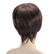 Cosplay Wigs Short Straight Cosplay Men Synthetic Hair Wigs Brown Artificial Hair Wigs