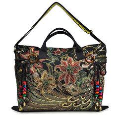 Brenice sac à main de paon en toile sac bandoulière à style chinois