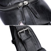 PU Leather Outdoor Casual Sling Bag Chest Bag Crossbody Bag For Men
