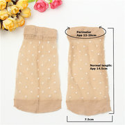 10 pairs Lady Girl Lace Ultra-thin Fiber Denier Sheer Ankle High Pop Dots Socks