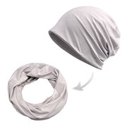 Women Multi-function Breathable Cotton Beanie Hats  Pure Color Beanie Casual Windproof Cap