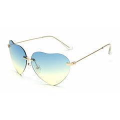 Mujer Retro en forma de corazón UV400 Anti-UV Gafas de sol Casual Compras Fiesta Gafas Gafas