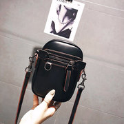 Women Solid Leisure Phone Purse Casual Faux Leather Crossbody Bags