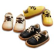 أحذية أطفال للجنسين خياطة ملونة لينة وحيد مريح شقة