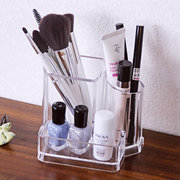 Acrylic Clear Cosmetic Storage Box Makeup Brushes Organizer Pencil Lipstick Holder