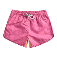 Couples Funny Pig Pink Beach Board Shorts Waterproof Quick Dry Drawstring With Side Pocket