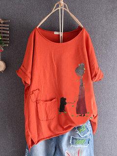 T-Shirt Split con tasche eleganti da donna