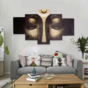 5Pcs Wall Abstract Art Print Canvas Painting Buddha Picture Unframed Home Decor