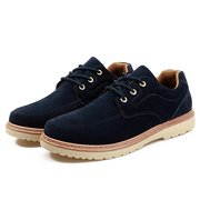 Men Low Top Lace Up Work Style Shoes