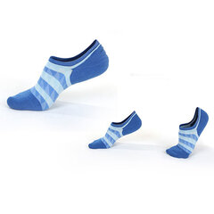 Men Autumn Warm Cotton Boat Socks Stripes Mesh Breathable Ankle Invisible Socks