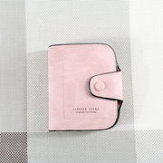 PU Leather Retro Solid Wallet Purse Women Card Holders