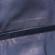 Uomo Giacca Blazer in Pelle Sintetica con Taschino in Colore a Tinta Unita alla Moda