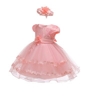 Lace Flower Girls Party Formal Dress For 0-24 Months