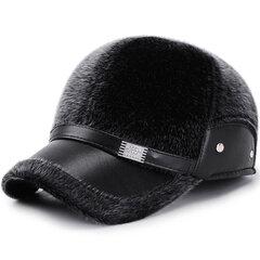 Los hombres de invierno proteger el oído engrosamiento ajustable algodón felpa cálida cómoda gorra de béisbol de la vendimia