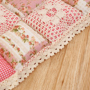 Vintage Lace Bread Pastoral Style Printing Flower Cotton Seat Cushion Sit Pad Mat Pillows