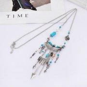 Боевые подвесные ожерелья из бисера Цепные стрелы Tassels Свитер Шарм Ожерелье Этнические украшения для женщин