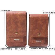Men 5.2/6.5 inch Genuine Leather Phone Bag For iPhone5/6/7/8/Plus Outdoor 11/13 Card Slot Purse