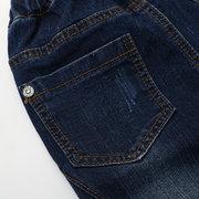 Calça Jeans Harem Infantil Cintura Elástica Para 4-15Anos