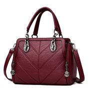 Damen Stitching Large Capacity Handtaschen Leisure Crossbody Taschen