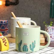 الإبداعية السيراميك قدح القهوة كوب ماء الصبار نمط القدح دائم القدح